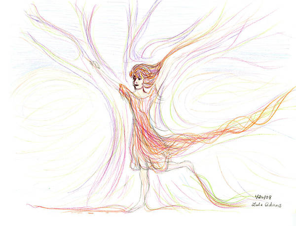 Drawing - The Dancer by Lula Adams