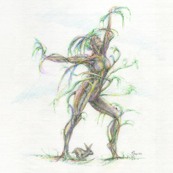 Wall Art - Drawing - The Dancer by Mark Johnson