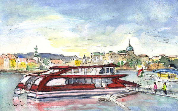 Painting - The Danube In Budapest 01 by Miki De Goodaboom