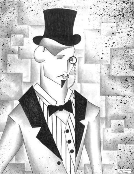 Wall Art - Drawing - The Dapper Gentleman by Adam Zebediah Joseph
