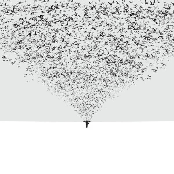 Imaginative Wall Art - Photograph - The Dark Half by Hossein Zare
