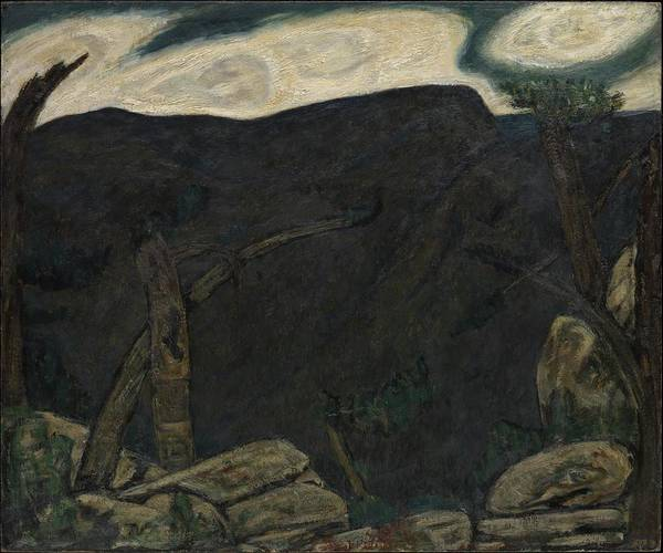 Central America Painting - The Dark Mountain, No. 2 by Marsden Hartley
