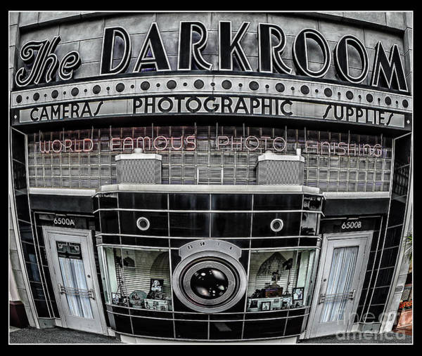 Fish Eye Lens Photograph - The Darkroom by Edward Fielding