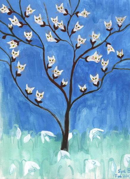 Snowdrop Painting - The Darling Buds Of February by Sushila Burgess