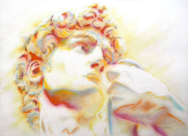 Unico Painting - The David By Michelangelo. Tribute by J  - O   N    E