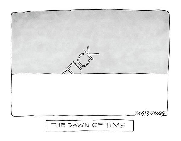 September 16th Drawing - The Dawn Of Time by Mick Stevens