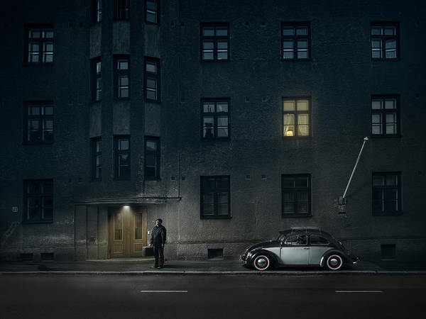 Volkswagen Wall Art - Photograph - The Day I Met Death by Petri Damst?n