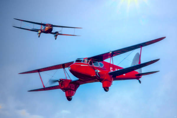 Digital Art - The De Havilland Dh90 Dragonfly by Chris Lord