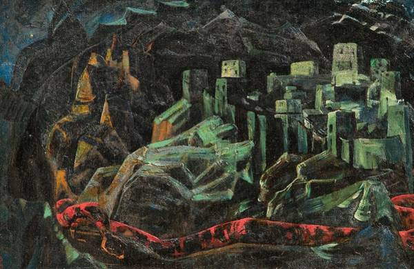 Nk Roerich Painting - The Dead City by Nicholas Roerich