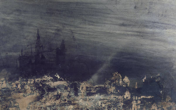 Gloomy Painting - The Dead City by Victor Hugo