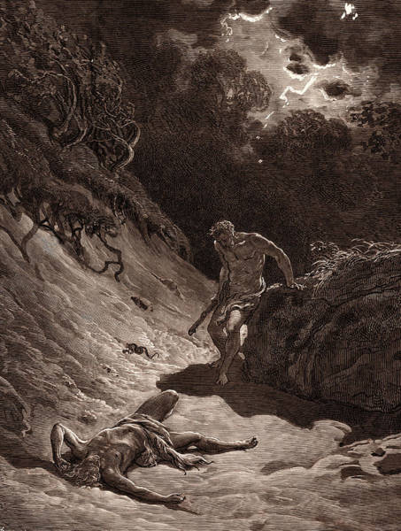 Dor Drawing - The Death Of Abel, By Gustave DorÉ. Dore by Litz Collection