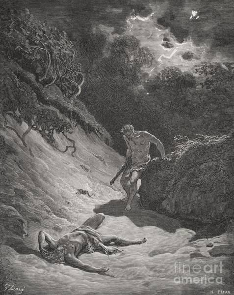 Tragedy Painting - The Death Of Abel by Gustave Dore