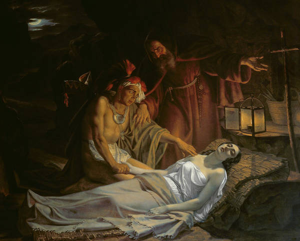 Cesare Painting - The Death Of Atala by Cesare Mussini