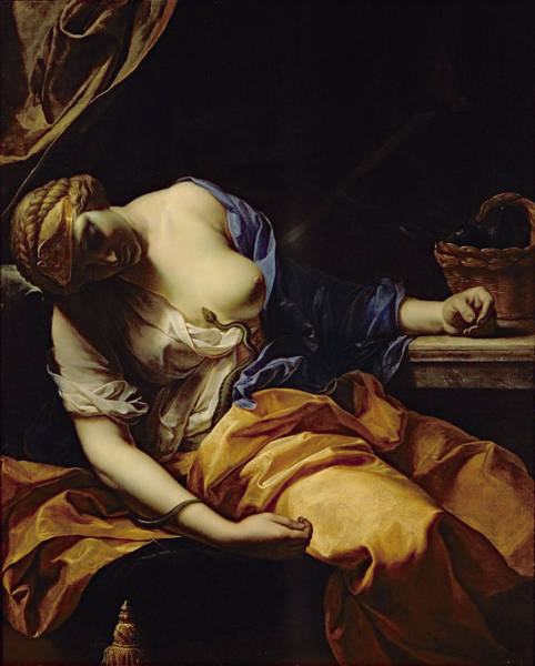 Serpent Photograph - The Death Of Cleopatra Oil On Canvas by Antoine Rivalz