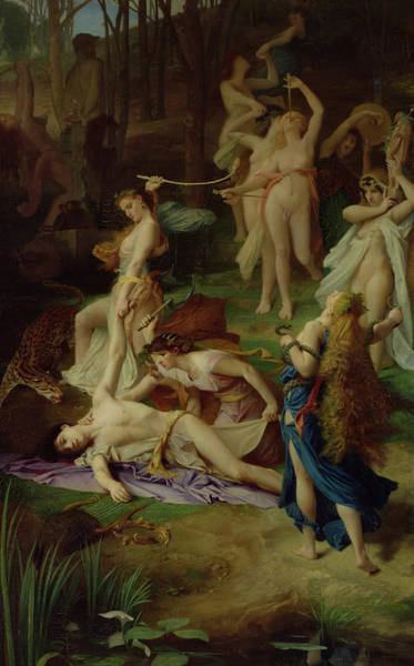 Mourning Painting - The Death Of Orpheus by Emile Levy