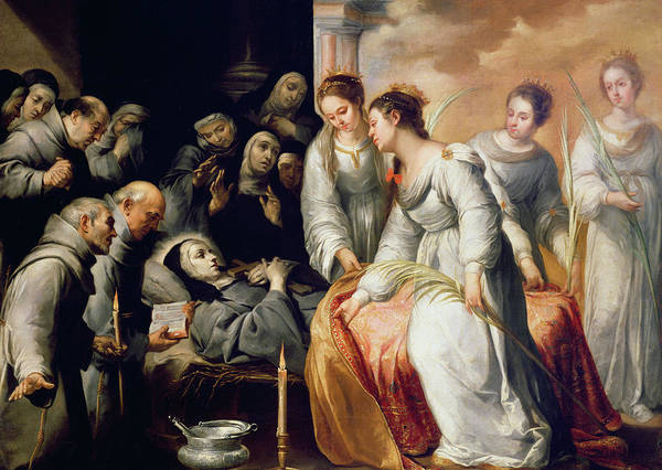 Wall Art - Painting - The Death Of Saint Clare by Bartolome Esteban Murillo