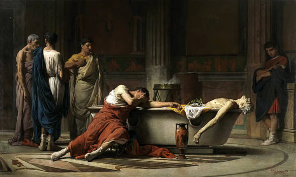 Manuel Wall Art - Painting - The Death Of Seneca by Manuel Dominguez Sanchez