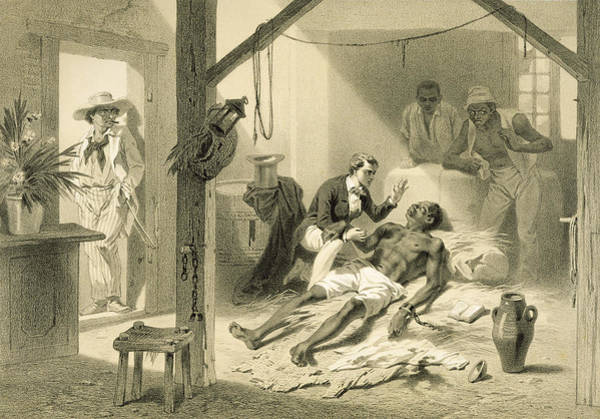 Print Drawing - The Death Of Uncle Tom, Plate 11 by Adolphe Jean-Baptiste Bayot