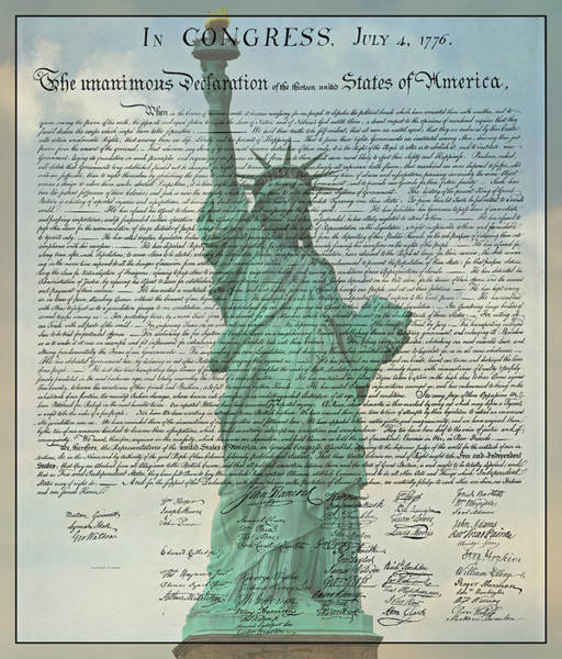 Declaration Of Independence Photograph - The Declaration Of Independence - Statue Of Liberty by Stephen Stookey