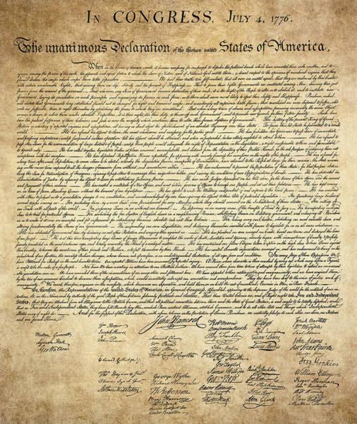 Declaration Of Independence Digital Art - The Declaration Of Independence by Daniel Hagerman