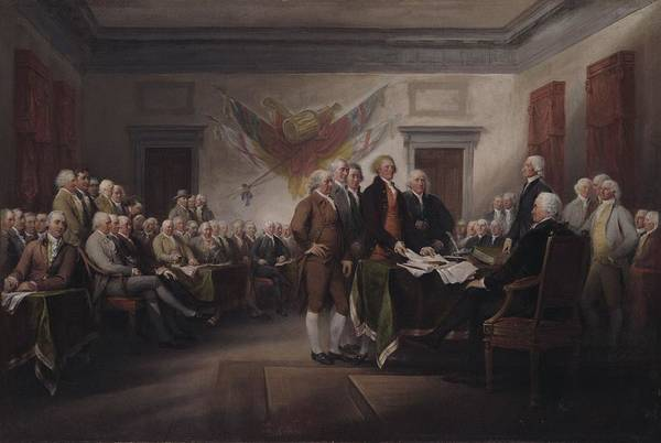 Wall Art - Painting - The Declaration Of Independence, July 4, 1776 by John Trumbull