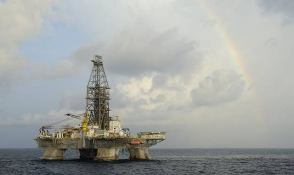 Photograph - The Deepwater Horizon And Rainbow by Bradford Martin
