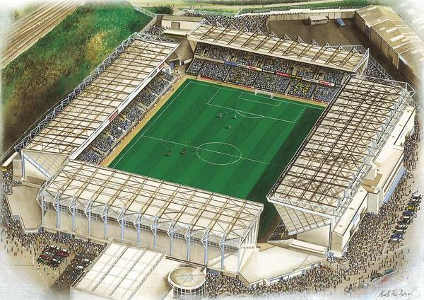 Wall Art - Painting - The Den - Millwall by Kevin Fletcher