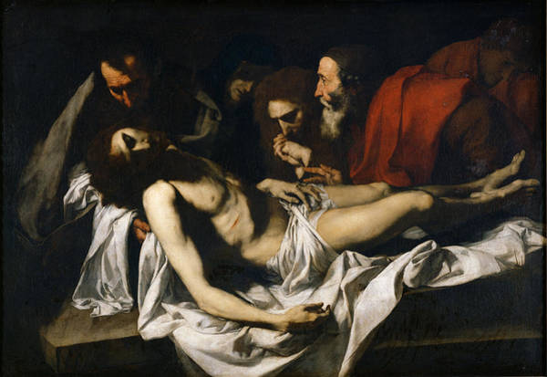 Grief Wall Art - Photograph - The Deposition Oil On Canvas by Jusepe de Ribera