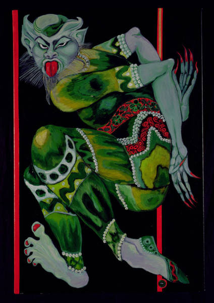 Nails Photograph - The Devil, After Bakst Part I, 1992 Acrylic On Canvas See Also 279212 by Laila Shawa