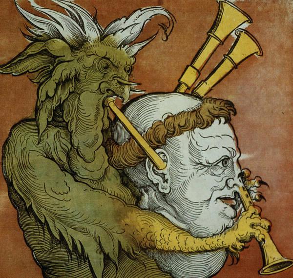 Parody Drawing - The Devil by Eduard Schoen