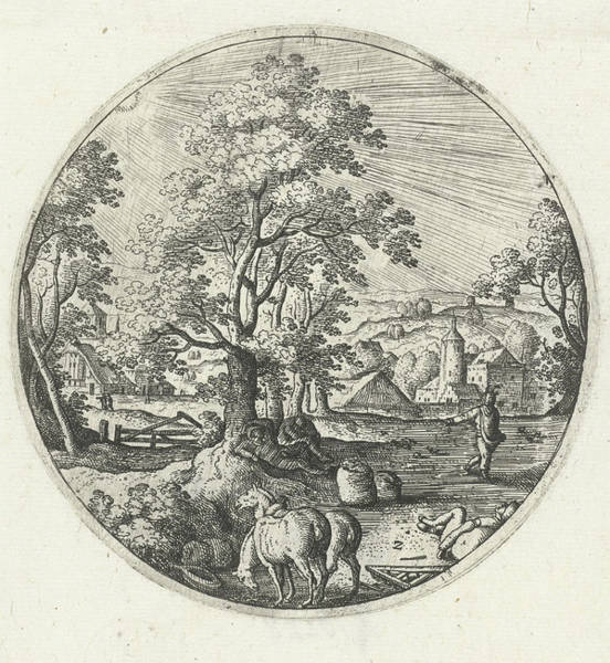 Weeds Drawing - The Devil Sows Tares Among The Wheat, Hans Bol by Hans Bol