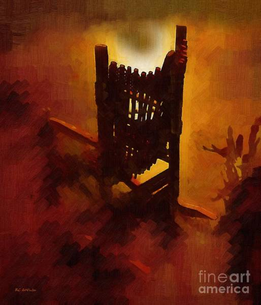 Painting - The Devil's Rocking Chair by RC DeWinter