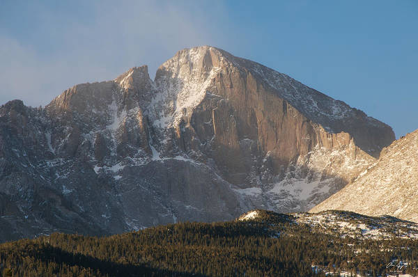 Wall Art - Photograph - The Diamond Face Of Longs Peak by Aaron Spong