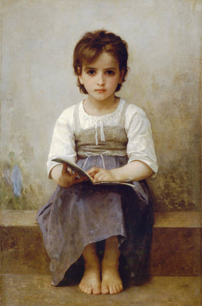 Old Masters Digital Art - The Difficult Lesson by William Bouguereau