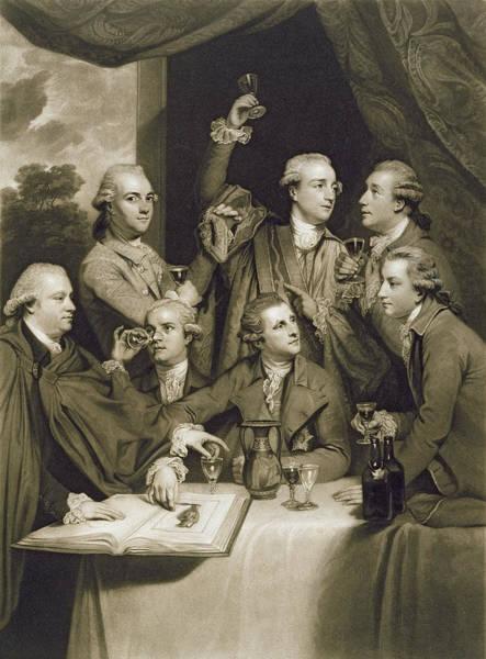 Restaurant Decor Drawing - The Dilettanti Society by Sir Joshua Reynolds