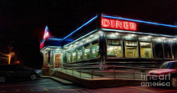 Photograph - The Diner by Jeff Breiman