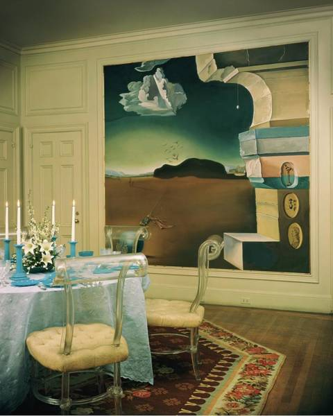 Blue Photograph - The Dining Room Of Princess Gourielli by Haanel Cassidy