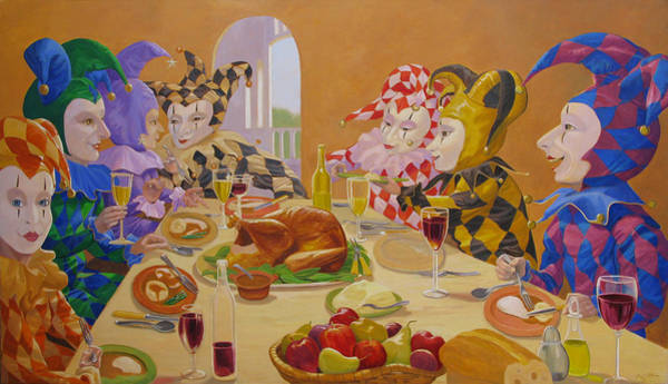 Wall Art - Painting - The Dinner Party by Leonard Filgate