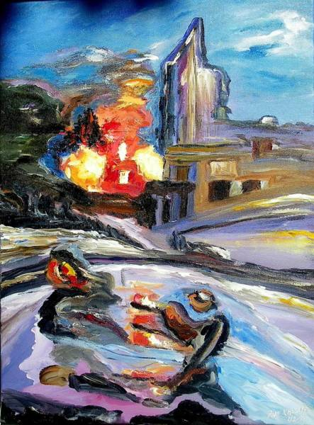 Painting - The Disaster by Ray Khalife