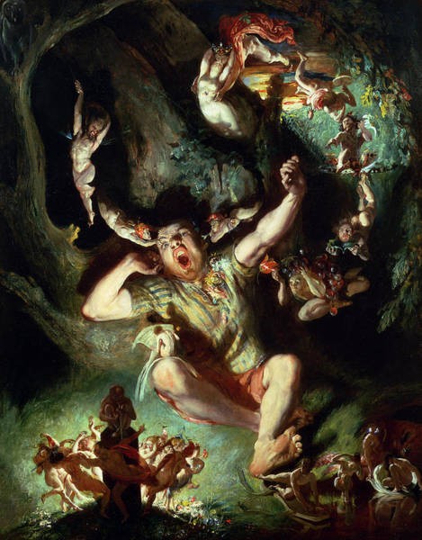 Theatrical Painting - The Disenchantment Of Bottom by Daniel Maclise