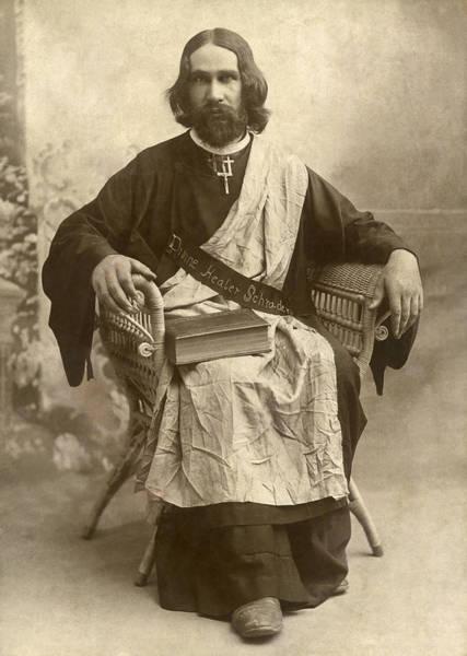 1888 Photograph - The Divine Healer Schrader by Weatherington Bros. Studio