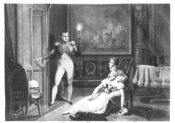 Emperor Photograph - The Divorce Of Napoleon I 1769-1821 And Josephine Tascher De La Pagerie 1763-1814 30th November by Charles Abraham Chasselat