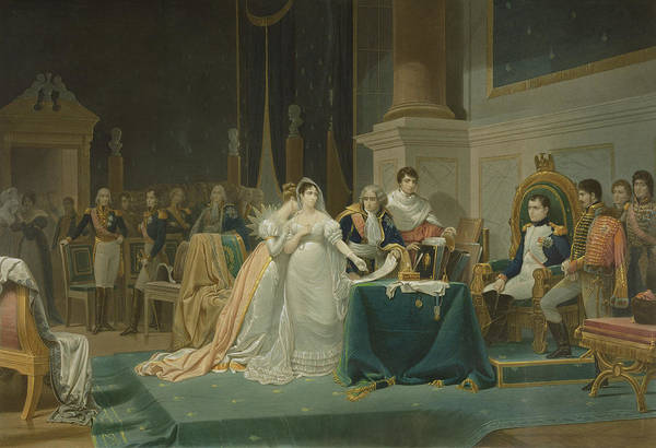 Ermine Wall Art - Drawing - The Divorce Of The Empress Josephine by Henri-Frederic Schopin