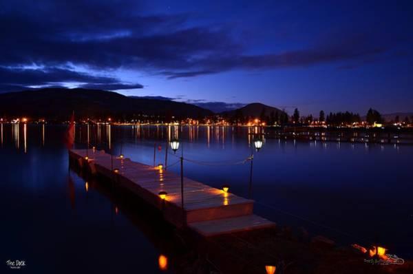 The Dock At Night- Skaha Lake 02-21-2014 Art Print