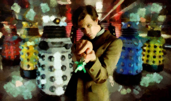 Bbc Painting - The Doctor by Janice MacLellan