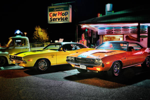 Challenger Photograph - The Dodge Boys - Cruise Night At The Sycamore by T-S Fine Art Landscape Photography