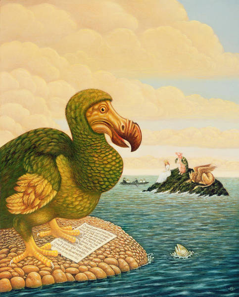 Extinct Wall Art - Painting - The Dodo by Frances Broomfield