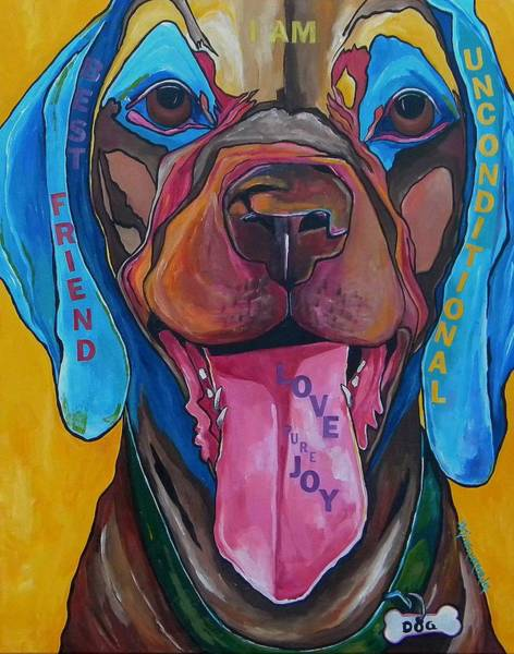 Painting - The Dog by Patti Schermerhorn