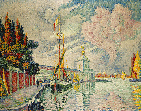 Neo-impressionism Wall Art - Painting - The Dogana by Paul Signac