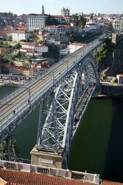 Dom Wall Art - Photograph - The Dom Luis I Bridge In Porto by Sinclair Stammers